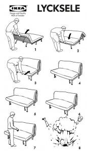 Instrucciones del sofá Lycksele