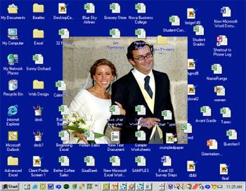 El escritorio del ordenador momentos antes de ser formateado.