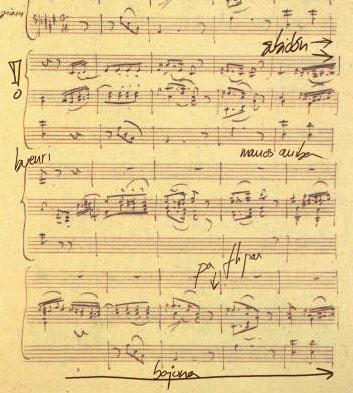 Una partitura de Machine Total Opus 34.