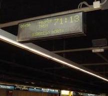 Los marcadores indicaban tiempos de espera de 70 minutos.