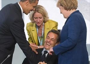 Nicolas Sarkozy se negaba a abandonar el terreno de juego.