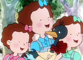 Ana, de joven, con sus compañeras.